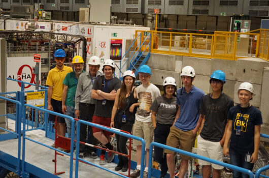 UC Berkeley students in 2018 standing in front of the Alpha project
