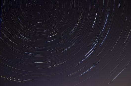 Startrails in night sky